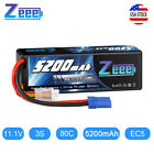 Zeee 11.1V 3S 5200mAh EC5 LiPo Battery 80C for RC Car Truck Helicopter Airplane