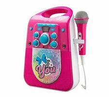 JoJo Siwa Karaoke Machine with TV Connect Feature and Bluetooth CD+G LED Lights