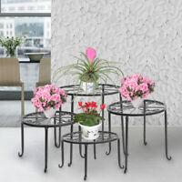 Wrought Iron 4 in 1 Metal Plant Stands Flower Pot Rack Holder Indoor/Outdoor