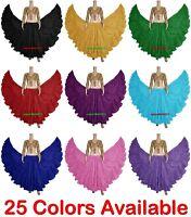 Cotton Gypsy Skirt 4 Tier 25 Yard Belly Dance Skirt Tribal Flamenco Gothic ATS