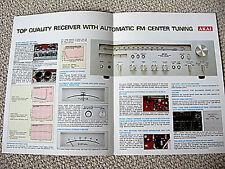 Akai AA-1040 receiver brochure catalogue