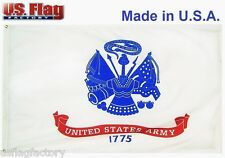 US Flag Factory 4'x6' US Army Flag Outdoor SolarMax Nylon 4 x 6 Foot (946Army)