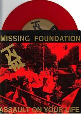 Missing Foundation - Assault On Your Life - Lungcast 7 Inch RED Vinyl Record NEW