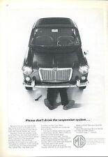1966 British Motor Corporation PRINT AD features MG Sports Sedan