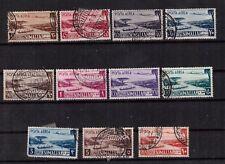 1950-1 SOMALIA AFIS - POSTA AEREA  sas.Serie43 - 11 valori USATI