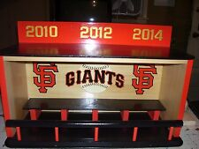 SF Giants display case for bobble heads World Series 2010,2012,2014