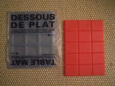D-SIGN O FRANCE sottopentola silicone/dessous de plat/table mat  ROSSO