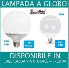 LAMPADINA LAMPADA LED GLOBO G95 e G120 E27 10w 13w 18w FREDDA CALDA NATURALE