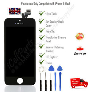 LCD Display For Apple 5 Black iPhone Touch Screen Digitizer Assembly and Tools