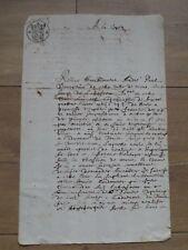 Acte manuscrit Notarié 2 Sols 1680 à identifier 19 cm sur 30 cm