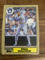(100) 1987 Topps Paul Molitor #741 Milwaukee Brewers Card Lot NM+