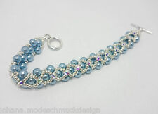 "Armband ""Kelly"" mit Perlen (Imitation), Swarovski Montees, handmade, Handarbeit"