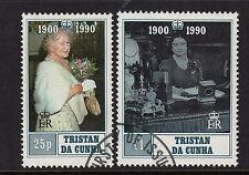 TRISTAN DA CUNHA :1990 Q.Mother's Birthday set SG498-9 fine used