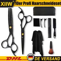 10stk Profi Friseurscheren Haarschere Effilierschere Schnitt Haarschneide satz