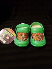 Nickelodeon TMNT Teenage Mutant Ninja Turtles Clogs w/Faux Fur Toddler Size 5/6