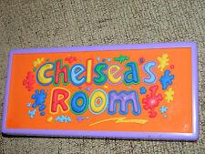 CHELSEA'S ROOM DOOR NAME PLATE 3D   PURPLE /RED /YELLOW/GREEN/BLUE