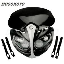 Motorcycle Bike Alien Black Fairing LED Headlight Streetfighter For Yamaha XJ R6