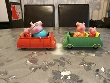 Peppa Pig Cars toys red green mummy pig daddy pig