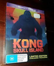 Kong Skull Island Steelbook BLURAY Action Limited Edition Hiddleston Blu-ray