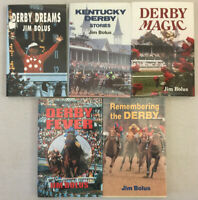 Kentucky Derby Books by Jim Bolus Dreams Magic Fever Remembering Lot of 5 PB/HC