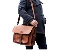 Men's Real Vintage Leather Messenger Business Laptop Briefcase Satchel Bag