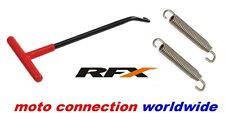 RFX EXHAUST STAINLESS 75mm SPRINGS & SPRING PULLER YAMAHA YZ125 YZ250