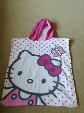 Filles Hello Kitty Over Head Rose Blanc Serviette de Plage Natation Taille Unique