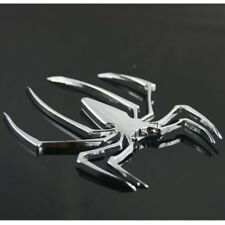 3D Spider Chrome Emblems Badges Sticker Silvery Can am Spyder RT ST RS - Set 2pc