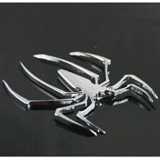 3D Spider Chrome Emblems Badges Sticker Silvery Can am Spyder RT ST RS - Set 2pc