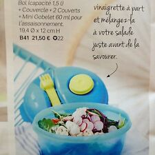 Tupperware salade on the go 1,5 L  NEUF