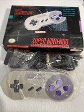 SNES Controller (Super Nintendo, 1991)  Original Box SUPER NES NINTENDO Untested