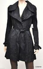 Nwt $298 Tahari OLGA Waterproof Trench Coat Jacket Parka Top Black M