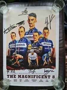 The Wolfpack Deceuninck - Quick-Step Hand Signed 2019 Tour De France Team Poster