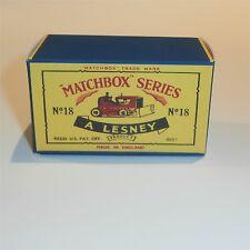 Matchbox Lesney 18 b Bulldozer empty Repro C style Box