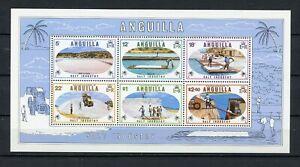 Anguilla  MNH # 386a Souvenir Sheet Salt Industry 1980  A590
