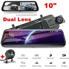 "10"" Car HD 1080P Car Rearview Mirror DVR Camera Video Recorder Dash Cam G-Sensor"