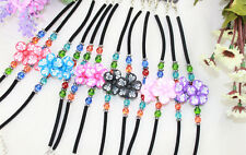 12PCS Mixed polymer clay flower childrens bracelets #21604