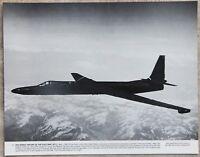 "Vintage 11x14 Photograph Lockheed U-2 ""Dragon Lady"" American Spy Plane in Flight"