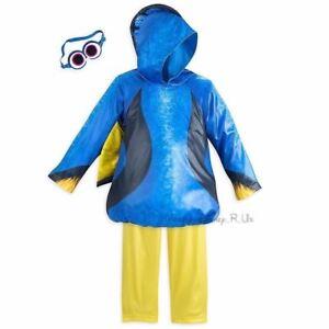 New Disney Store Finding Dory 3 Piece Costume Dress Up Set Kids Size 4