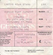 Chelsea Football League Fixture Tickets & Stubs (Pre-1992)