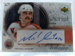 Michel Goulet 2003-04 Upper Deck Trilogy Auto Blackhawks Nordiques NHL HOF