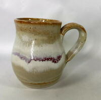 Handmade Earthenware Multicolors 12 oz Mug / Coffee Cup  Pottery Mug Signed