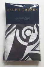 RALPH LAUREN ELLINGTON ART DECO BLACK & WHITE COTTON ONE STANDARD PILLOW SHAM