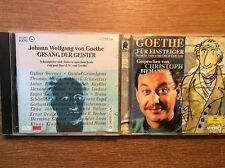 Goethe [2 CD] Gesang der Geister Kinski Mann + Für Einsteiger Christoph Biemann