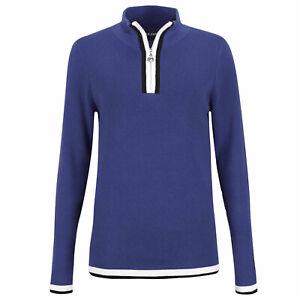 NWT Golfino Ladies ST Blue Troyer Blended Wool 5312926 552 Blue Sz 8 10 NEW