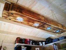 Deckenlampe Holz Hängelampe Altholz massiver Balken mit Led Set Balkenlampe