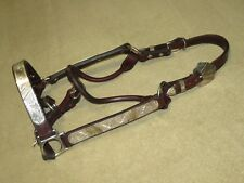 Beautiful HIGH QUALITY Western Show Halter with MEXICO SILVER & BRONZE - Hrs Sz?
