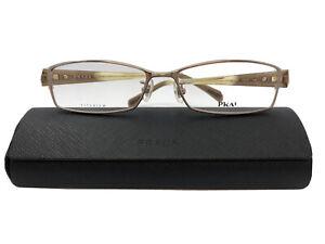 NEW Prada Eyeglasses VPR66N Gold Brown 7IS1O1 54.16.140 Women's Eyeglasses Frame