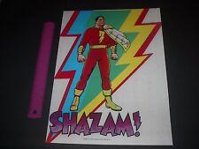 DC COMICS SUPERFRIENDS RETRO SHAZAM CAPTAIN MARVEL POSTER PIN UP
