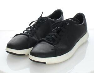 U17 $150 Men's Sz 13 M Cole Haan GrandPro Tennis Leather Sneaker In Black